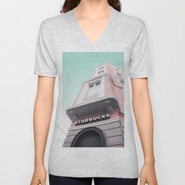 Contemporary Blush Facade Unisex V-Neck