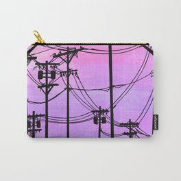 Industrial poles violet Carry-All Pouch