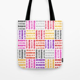 bright pattern of pink, yelow and purpe no 4 Tote Bag