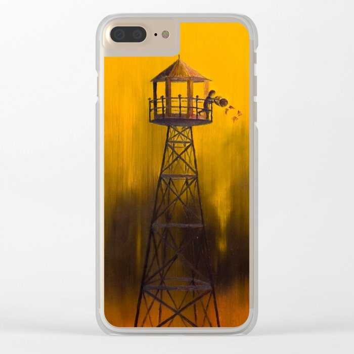 Autumn Tower Clear iPhone Case