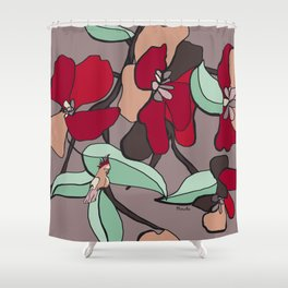 Huge flowers for you Shower Curtain