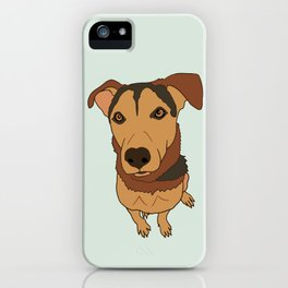 Happy Mutt Puppy Dog Illustrated Print iPhone Case
