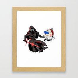 Kylo Ren and Stimpy Framed Art Print