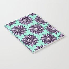 Purple Mandala Like Abstract Flower Notebook