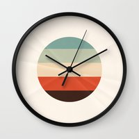 icecream Wall Clocks featuring Folded Icecream by farsidian