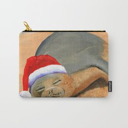 Mele Kalikimaka Monk Seal Carry-All Pouch