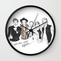 one direction Wall Clocks featuring One Direction by Stephanie Recking