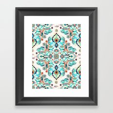 Modern Folk in Jewel Colors Framed Art Print