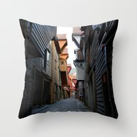 norway Throw Pillows featuring Norway by ImmyBird