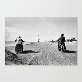 The Race of Gentlemen bw 9 Canvas Print