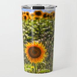 The Lonesome Sunflower Travel Mug