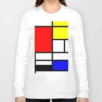 mondrian Long Sleeve T-shirts featuring Mondrian by  Can Encin