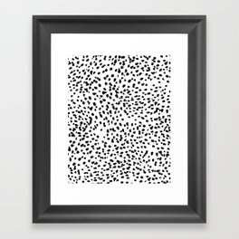 Nadia - Black and White, Animal Print, Dalmatian Spot, Spots, Dots, BW Framed Art Print