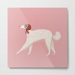 Stylish Borzoi Dog Metal Print