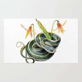 Snake with Wildflower Rug