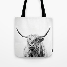 portrait of a highland cow - (vertical) Tote Bag