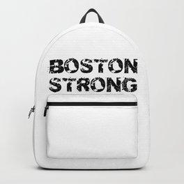 Support BOSTON STRONG Black Grunge Backpack
