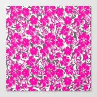 flower pattern Canvas Prints featuring Flower Pattern  by Sammycrafts