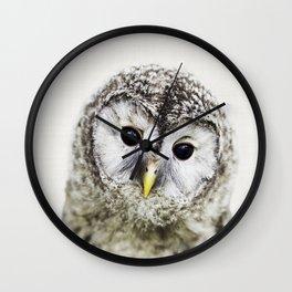 Owl Print, Nursery Wall Art, Woodlands Animal Print, Nursery Decor, Forest Animal Wall Clock