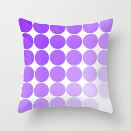 Violet Circle Color Chart Throw Pillow