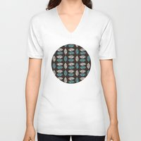 leaf V-neck T-shirts featuring Leaf  by C Designz