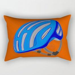 The blue bike helmet Rectangular Pillow