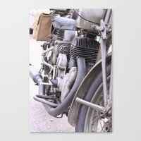 motorbike Canvas Prints featuring Old motorbike by Carlo Toffolo