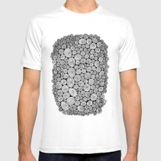 Spiral White Mens Fitted Tee MEDIUM