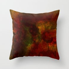 Dark red hearts abstract design Throw Pillow