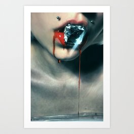 Blood Diamond Art Print