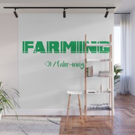 Farming Definition Wall Mural