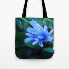 Blue Flower in the Field Tote Bag