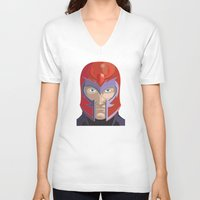 magneto V-neck T-shirts featuring Magneto by Jconner