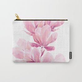 Crystal Pink orchid, polygon flowers, beautiful floral background Carry-All Pouch