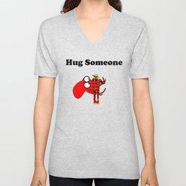 Hug Someone Unisex V-Neck