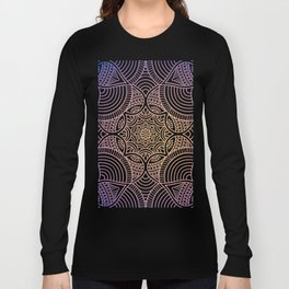 Purple Ethic Floral Mandala Pattern Long Sleeve T-shirt