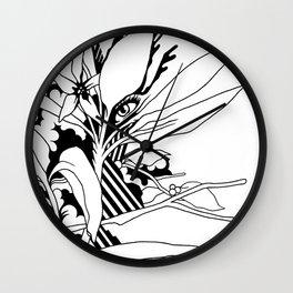 eye & leaf Wall Clock