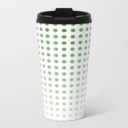 Polka Dots/Green Metal Travel Mug