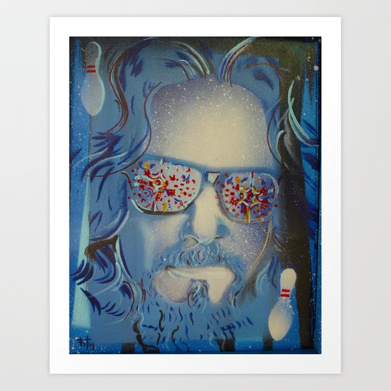 Blue Dude : The Big Lebowski  Art Print