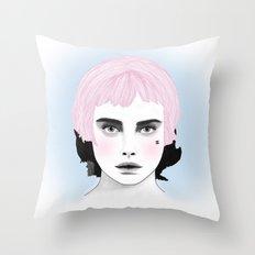 Fashion Illustration - Chanel Pink Throw Pillow
