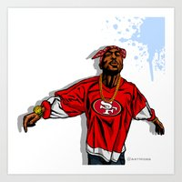 49ers Art Prints featuring 49ERS MOOD by Mike Farhat Art Mobb
