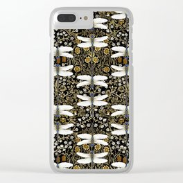 Dragonfly Garden Pattern Clear iPhone Case