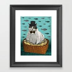 Fat Cat Print Framed Art Print