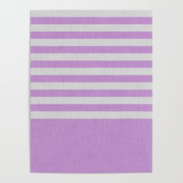 Violet and gray color block and stripes Poster