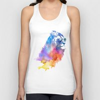 jazzberry blue Tank Tops featuring Sunny Leo   by Robert Farkas
