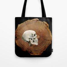 Painted Skull Tote Bag