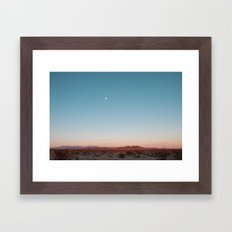 Desert Sky with Harvest Moon Framed Art Print