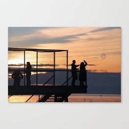 Sunset Bubbles Canvas Print