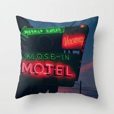 no tell Throw Pillow