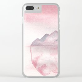 Pink Iceberg Clear iPhone Case